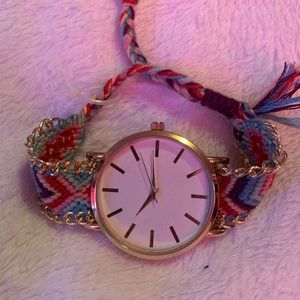 Multicolored Fabric Watch